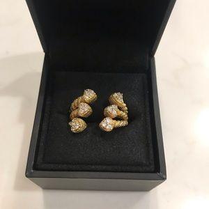 Judith Ripka Gold Diamonique Wrap Ring